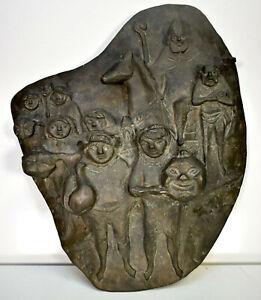 Karl Kluth: Martinszug [um 1970]. Original-Brozenplastik.