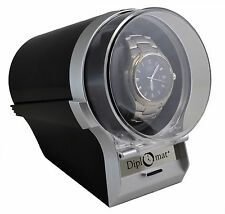 Watch Winder Diplomat Case Box Storage Timer  Automatic Single  Diplomat