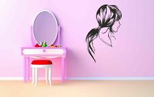 Wall Decal Sticker Room Decor Woman Face Beautiful Hair Curls Eyes Lips bo2507