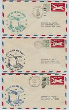 4 1959 First Flight Air Mail First Jet Service New York to St. Louis AM-2 Covers