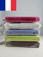 Lot de 2X Drap Housse 90 x 190 cm Lit 1 personne Coton et polyester 9 couleurs