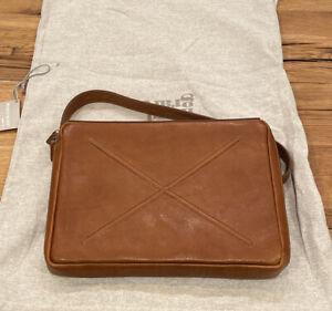 "Hardgraft Hard Graft Classic Flat Pack 13"" Medium Laptop Bag Messenger Leather"