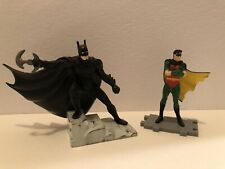 Batman forever 3 Inch and Robin 2 3/4 Inch Cvc Figurines. Dc Comics.