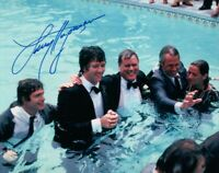 Larry Hagman Signed Autographed 8X10 Photo Dallas Smiling in Pool w/ JSA