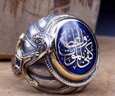 Turkish Handmade Jewelry Silver İslamic Men's Ring Size 5-10