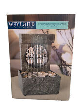 BRAND NEW IN BOX Wayland Square Contemporary Water Fountain Stacked Cobblestone