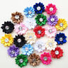 Multi Colors Shiny Satin Ribbon Flower Clothes Sewing DIY Craft Embelishments