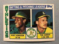 1984 Topps Oakland Athletics Complete Team Set - 31 cards Ricky Henderson