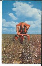 CA-167 Mechanical Cotton Picker, Farming Agriculture Scene Chrome Postcard
