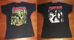 Terrorizer shirt 1990 Earache Word Downfall Sepultura Pantera L - VG VERY RARE