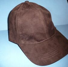 0ccda2364f4b3 Zara Man High Quality Faux Suede Mens Brown Ball Cap Size M NEW