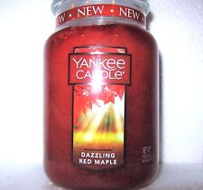 "Yankee Candle ""DAZZLING RED MAPLE"" ~ Large 22 oz.~ WHITE LABEL ~ NEW"