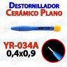 Destornillador PLANO ceramica YR-034A 0,4x0,9 ajuste pololu 3D mini ceramico