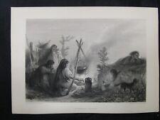 1800s Etchings Engravings - Bohemian Gipsies by J. F. Portaels & W. M. Lizars