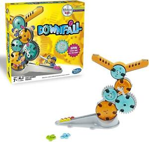 DOWNFALL Twisting Key Spin Gear Game MENSA For Kids Hasbro Gaming 2 Players 7+