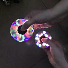 LED Lights Glowing Tri Fidget Hand Spinner Finger Focus Desk Toy Anti-Stress
