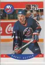 Autographed 90/91 Pro Set Brent Sutter - Islanders