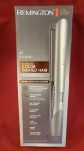 "Remington Pro 1"" Flat Iron Protects Color Treated Hair Ceramic w Keratin Oil"