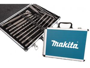 MAKITA kit 17 punte e scalpelli sds plus in valigetta di alluminio D-42444