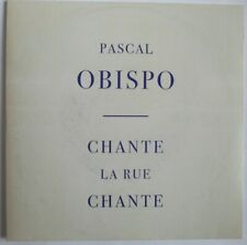 "PASCAL OBISPO - CD SINGLE PROMO ""CHANTE LA RUE CHANTE"""