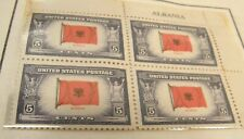 Us #909-921 1943 Wwii Overrun Nations Countries Flags Name Block Set Of 13 Mnh