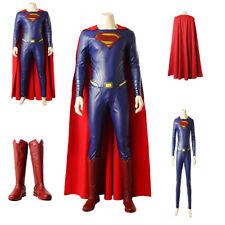 New hot movie Superman Clark Kent Cosplay Costume Halloween full suit Customized
