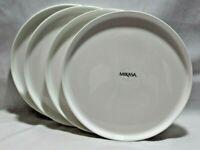 "Mikasa Samantha White Bone China 8 1/4"" Salad Plates Set of Four New"