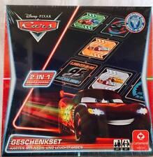 Disney Cars Neon Geschenkset 2 in 1 Memo und Domino Cartamundi 22501457 Pixar