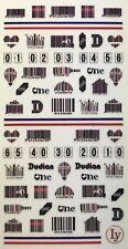 Nail Art 3D Decal Stickers Bar Code, Light Bulb & Wine Bottle Bar Codes LY136
