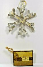 """Round Top Collection - 4.5"""" Metal Sparkly Snowflake Christmas Holiday Ornament"""