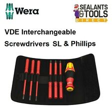 Wera Comfort VDE Electrical Insulated Screwdriver Set Slotted Phillips WER003470