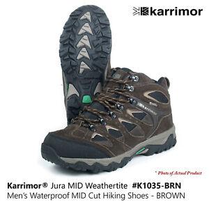 KARRIMOR Jura MID Weathertite Mens Waterproof Walking Hiking Camping Shoes-BROWN