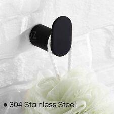 Bathroom Sus Black Round Wall Robe Hook Door Single Hanger Bracket Towel Rack