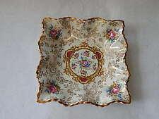 Vintage James Kent Staffordshire Old Foley Pompadour Square Trinket Bowl