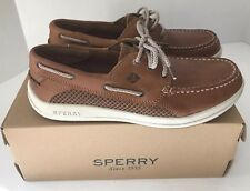 SPERRY TOP SIDER MENS BOAT SHOE GAMEFISH 3-EYE Dark Tan SZ 10 New In Box