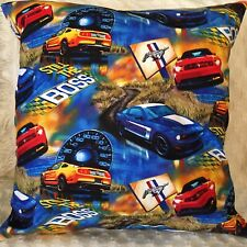 """Cushion Cover 18"""" 46cm Mustang The Boss, Muscle Car Made Australia  Mustang Pony"""