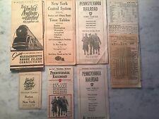NINE 1930s-1940s RAILROAD PUBLIC TIME TABLES INCLUDES HELL GATE BRIDGE ROUTE!