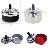 Portable Metal Cigarette Ashtray Smokeless Push Down Ash Holder Case Cup Gift