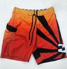 BILLABONG Boardshorts Mens Size 36 Rising Sun - Morphing Sun Colors orange black