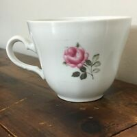 Winterling tea cup Roslau Bavaria porcelain pink gray rose floral