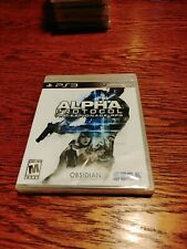 Alpha Protocol (PS3 Sony PlayStation 3, 2010) Brand New