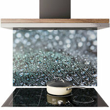 Glass Splashback Kitchen Tile Cooker Panel ANY SIZE Feather Water Drop 0629