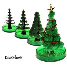Kids Magic Growing Crystal Christmas Tree Kit Paper Decoration Science Toy Gift