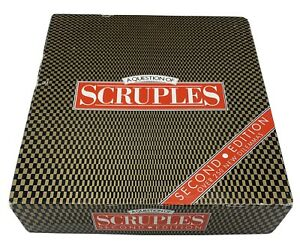 A Question Of Scruples Second Edition Board Game MB 1986 100% Complete A Game of