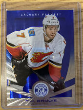 2013-14 Totally Certified T.J. BRODIE Mirror Platinum Blue #14 43/50 FLAMES