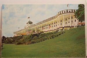 Michigan MI Mackinac Island Grand Hotel Postcard Old Vintage Card View Standard