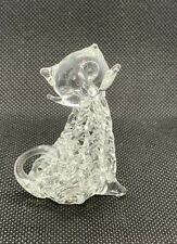Cat Figurine Mini Hand made Blown String Glass