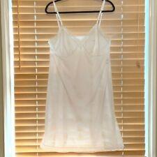 Vanity Fair White Feminine White Lace Trim Full Slip. Size 40