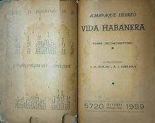 """RARE 1959 """"ALMANAQUE HEBREO"""" de CUBA """"VIDA HABANERA"""" 200 Anunciantes, 380+ Pages"""