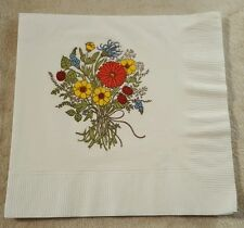 Vintage Hallmark Paper Luncheon Napkin Flowers Floral Collectible